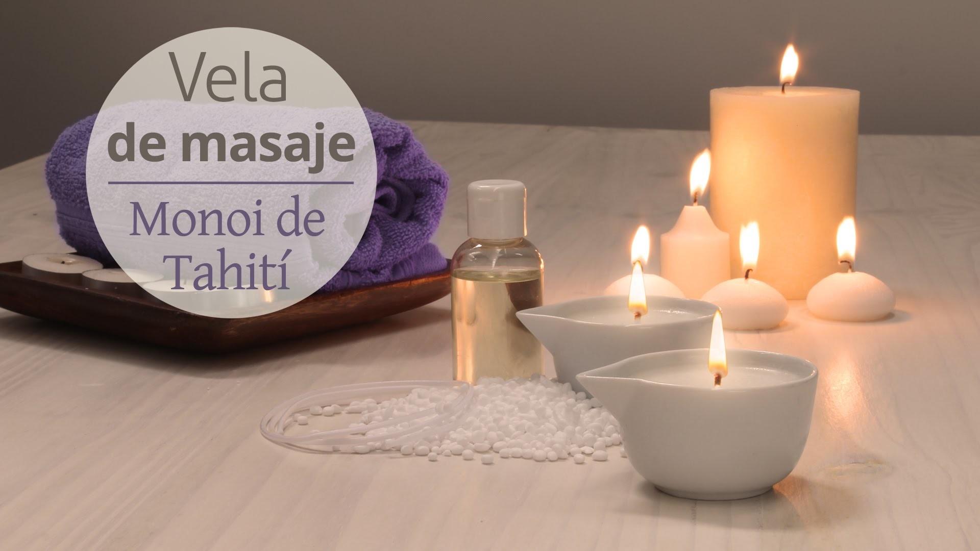 Hacer vela de masaje Monoi de Tahiti