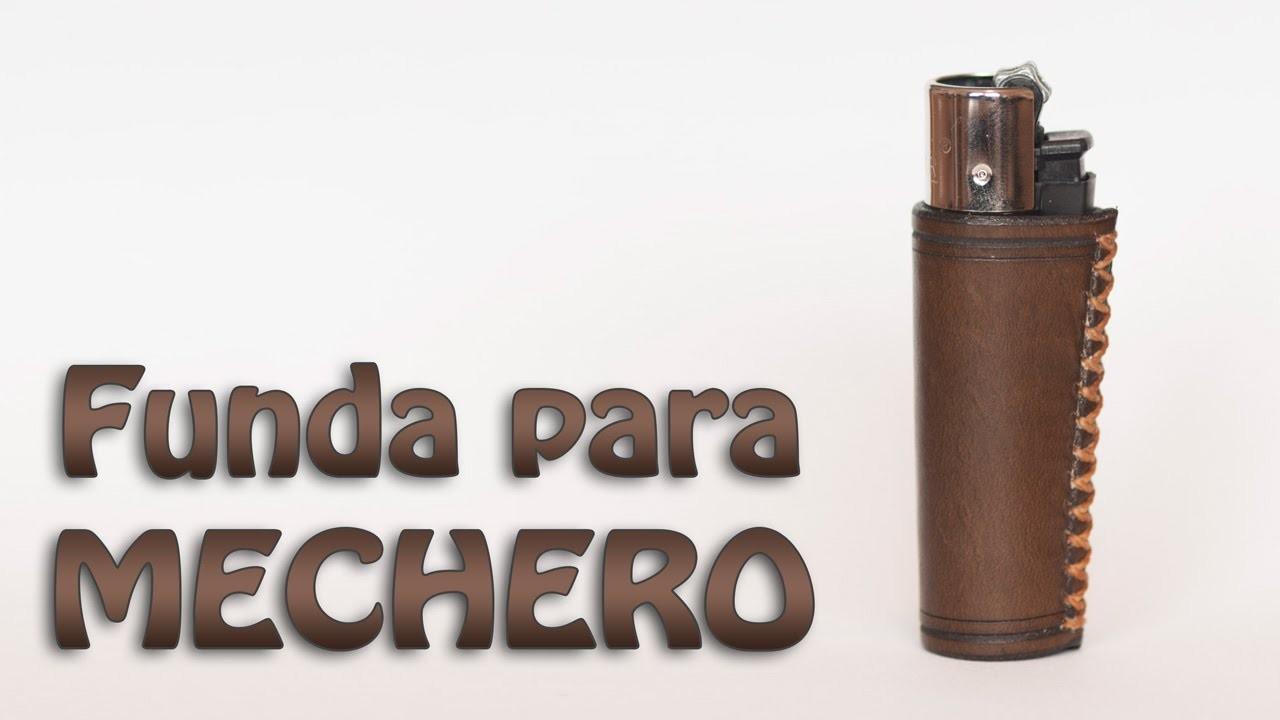 Haciendo una funda de cuero para mechero || Making a lighter leather case