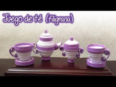 Juego de té de Filigrana
