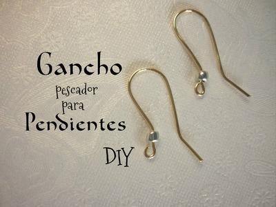 Manualidades: BISUTERÍA (Gancho para pendientes) DIY - JEWELLERY ( Hook earrings )