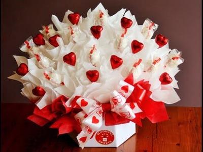Ramo o buquete de flores rellenos de dulces - como hacer ramo de flores dulces ;-)