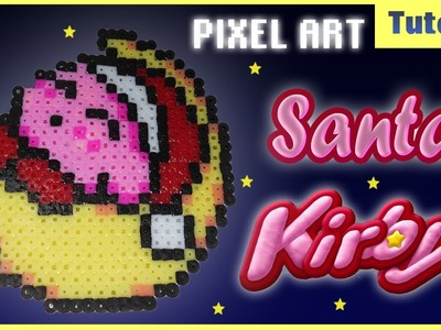Speed Pixel Art ✰ Santa Kirby ✰ Perler Beads