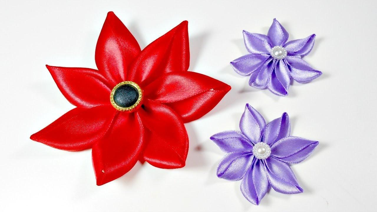 TUTORIAL: Cómo hacer una flor con cinta de raso MUY FÁCIL | Mundo@Party