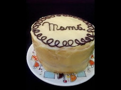 Armado y decorado de una torta