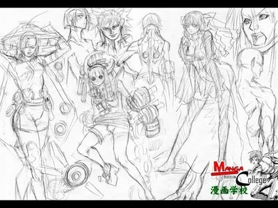 Como dibujar Manga  (Cuerpo completo)  How to draw Manga Bodies