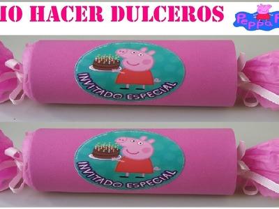 COMO HACER DULCERO FACIL PEPPA PIG