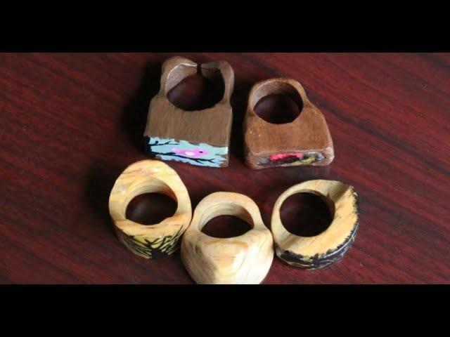 Cómo hacer un anillo con madera reciclada de forma muy sencilla.