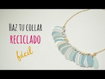 Cómo hacer un collar con materiales reciclados. Recycled necklace(English CC)
