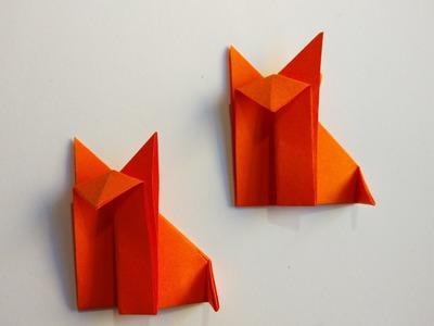 Como hacer un zorro de papel sencillo (Muy facil)