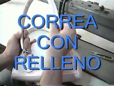 CONFECCIÓN DE CORREA CON RELLENO DE CARTERA