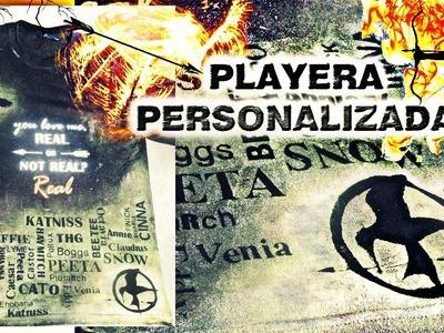Crea Tu propia PLAYERA PERSONALIZADA ¡FÁCIL! | Sinsajo | Hugo Tulais | DIY |
