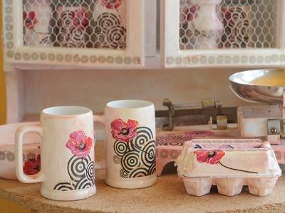 Decoupage sobre vidrio y ceramica - Barniz Vitrificable para Horno Casero