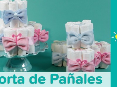 DIY Mini Tortas de Pañales para Baby Shower | Pampers