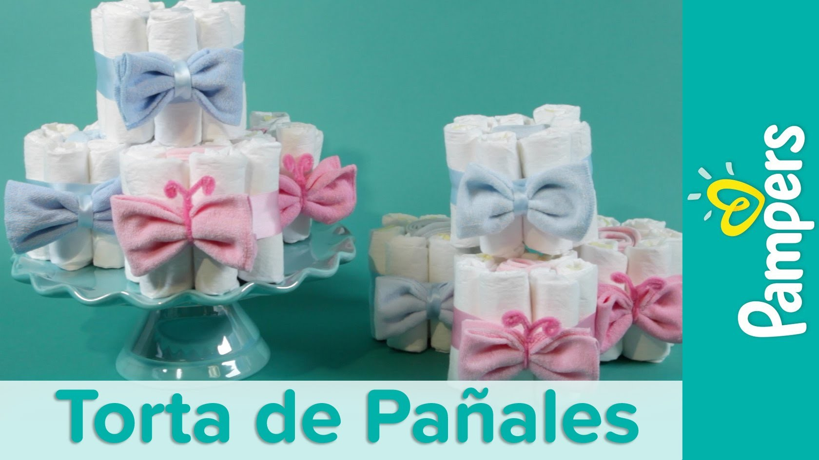 DIY Mini Tortas de Pañales para Baby Shower   Pampers
