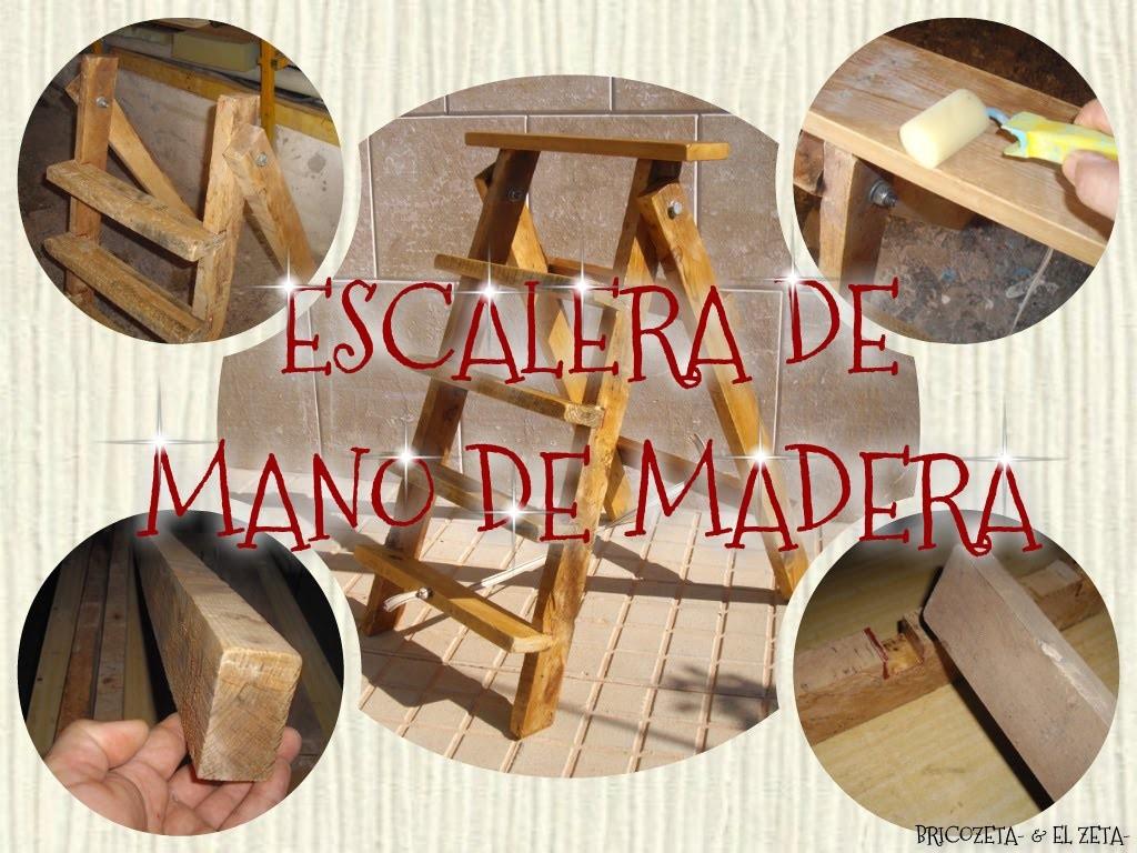 Escalera De Mano De Madera Con Un Palé Con Bricozeta- & El zeta-