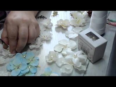 Flores pequeñas para Coronas y Apliques en tocado de novia Video 74