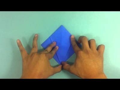 Hacer pez de origami - Manualidades con papiroflexia