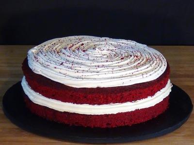 Receta Red velvet cake o Tarta terciopelo rojo - Recetas de cocina, paso a paso, tutorial