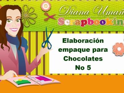 Scrapbooking en Español Episodio 33  Elaboración Empaque Chocolates No 5