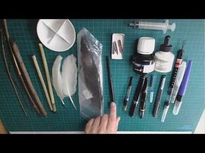 Taller de Materiales- tintas, tintes, cálamos y plumas
