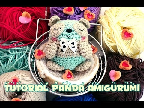 Oso panda kawaii amigurumi paso a paso en video tutorial ... | 360x480
