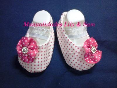 Zapatos, baletas en tela para nena, paso a paso