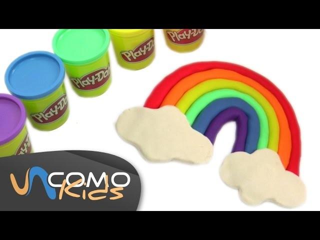 Arco iris con plastilina play doh - Play Doh rainbow