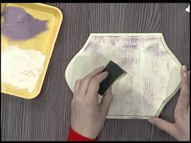 Caja con pátina de esponja y stencil 3D - 2da parte