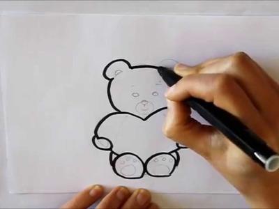 Cómo dibujar un Oso de Peluche con un Corazón Dibuja Conmigo Dibujos de Amor