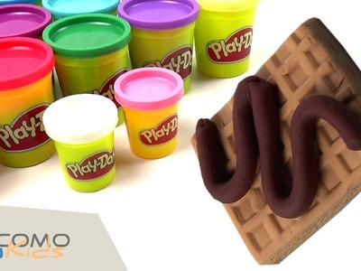 Cómo hacer gofres de plastilina Play-Doh