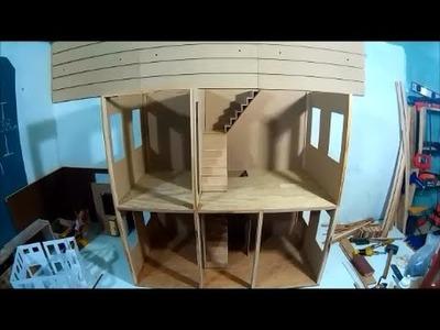 Como hacer nuestra casa de muñecas, segundo piso.