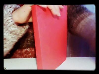 Cómo hacer una carpeta de cartulina-viedeo de manualidades-2°parte