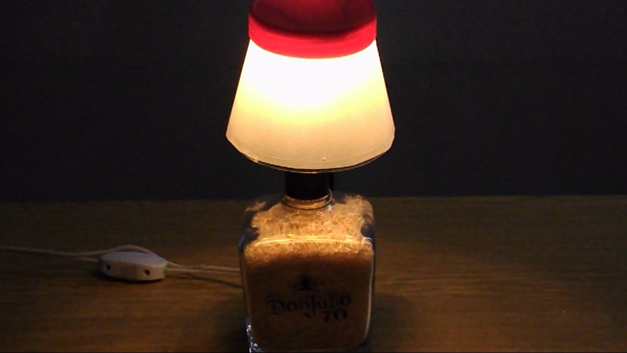 Como hacer una lampara de botella