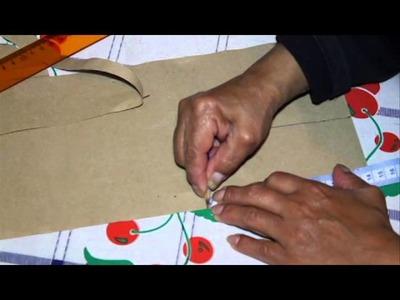 Como sacar el molde de un chaleco para niño talla cero