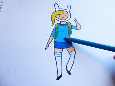 Dibujando y pintando a fionna - Drawing and painting to fionna