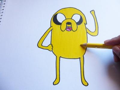 Dibujando y pintando a jake - Drawing and painting to jake