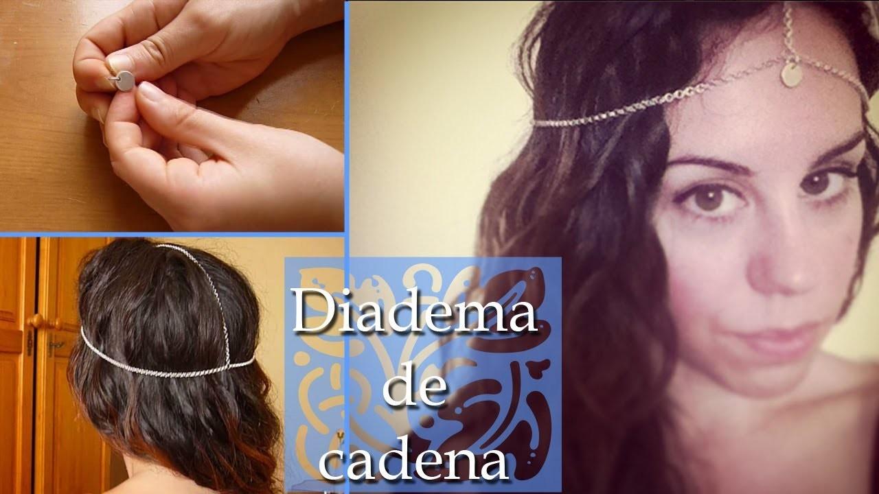 DIY: Como hacer una diadema de cadena para el pelo ♥ Mejores ideas de Sara