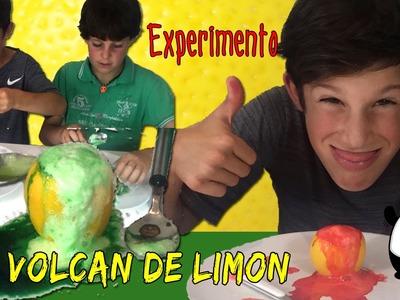 EXPERIMENTO casero: Volcán de limón * LEMON VOLCANO experiment