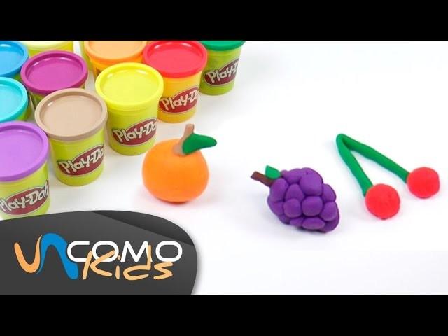 Hacer frutas con plastilina Play Doh