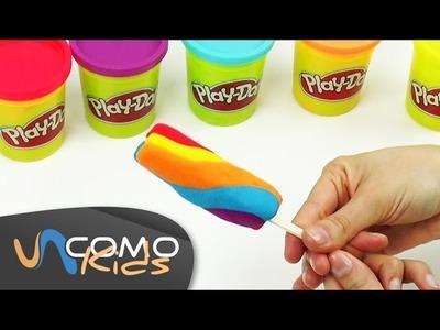 Hacer helados de plastilina play-doh