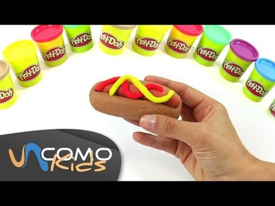 Hacer Hot Dog de plastilina Play-Doh