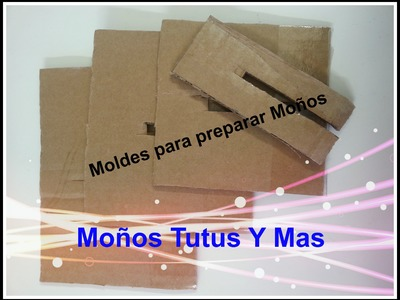 Molde de carton para hacer moños - BOW MAKING TEMPLATE - moños perfectos en cinta liston