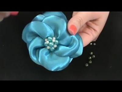 Paso a Paso CENTRO DE PERLAS para moño HAIR BOW CENTER Tutorial DIY Perla de color accesorio cabello