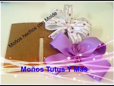 Paso a Paso Moño Basico con Molde de Carton base para Moños - BASIC HAIR BOW made with TEMPLATE