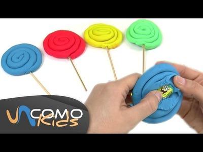 Piruletas de plastilina Play Doh con sorpresa dentro