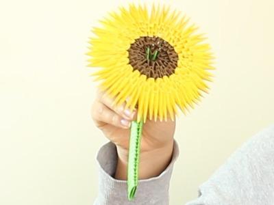 Sunflower. Girasol Origami 3D