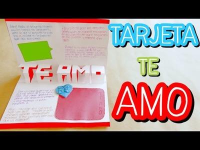 "Tarjeta Pop-Up ""Te Amo"" {FÁCIL}. Tarjetas para san valentin"