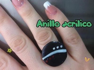 Tutorial: Cómo hacer anillo negro circular con acrílico