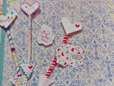 Tutorial flechas de amor. ♥ Esther scrap.