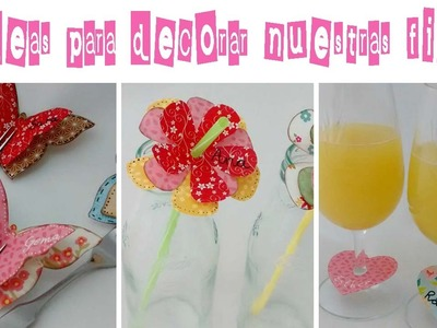 3 ideas para decorar tus fiestas.3 Ideas to decorate your parties.
